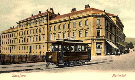 Tranvía en Sarajevo, año 1901