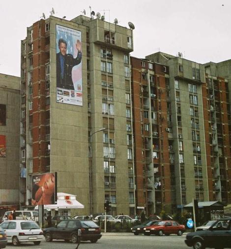 Poster en el Bill Clinton Boulevard, Prishtina