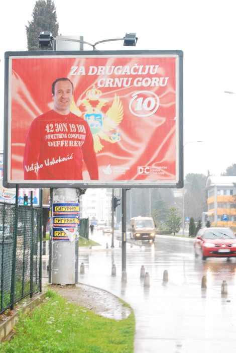 Propaganda de uno de los partidos de la oposición