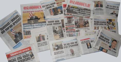 Embajadores y gobernantes extranjeros, incluido el gobernador de Maryland, EE UU, exponen en los periódicos de Sarajevo sus reflexiones sobre la situación.