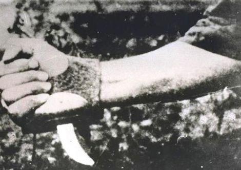 Esto utilizaban para degollar prisioneros en Jasenovac