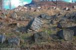 Tumbas antiguas en la parte superior