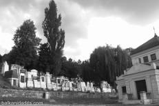 Desde la parte baja del cementerio.